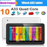 10 #039; #039; A33 Quad core Tablet pc Allwinner A33 1.5 ГГц андроид 4.4 емкостный сенсорный экран планшетного ПК 1 ГБ 8 ГБ Bluetooth Wifi двойная камера 002605