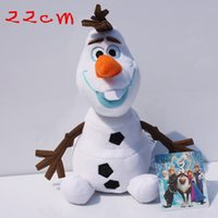 2015 Frozen 22cm OLAF plush toys Snowman Doll cartoon Movie ...