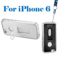 Immersioni Casi di Telefono Shell Subacquea Antipolvere, Impermeabile IPX8 Antiurto di Riconoscimento delle Impronte digitali con il supporto per iPhone 6 4.7 quot; PA2049
