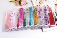 Pour iphone 7 Coloré Déménagement Shining Stars Liquid Glitter Quicksand 3D Bling Housse Pour Téléphone Iphone 6s Plus Samsung S7 S6 bord