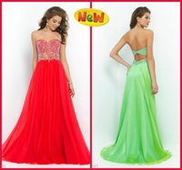 2015 Heavy Crystals Beaded Green Chiffon Beaded Prom Dresses...