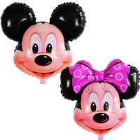 64*82cm 25inch Foil Minnie and Mickey Mouse Helium Balloons ...