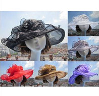 2015 new arrival womens Organza Hat Kentucky Derby Wedding C...