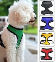 Fashion 5 Colors Adjustable Cat Dog Collar Leads Chest Harne...