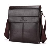 Men' s Vertical PU leather bags Men Messenger bag Mens B...