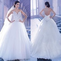 Bling Wedding Dresses 2014 Sexy Tulle Bridal Dress A Line Wi...