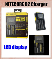 NITECORE D2 DigiCharger LCD Intelligent Display Smart Charger Universal pour IMR Li-ion Ni-MH Ni-Cd batterie rechargeable FJ138