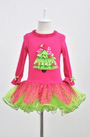 HOT Christmas Dress Falbala Christmas Tree Design Princess D...