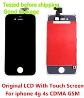 Promotion!! DHL Free Shipping Touch Screen + Originale LCD Display Digitizer + Frame + Tool Ensemble complet pour iPhone 4 4G 4S