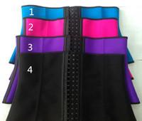 XS-3XL 4 цвета Женщины латексной резины Талия Обучение Cincher Underbust корсета профилировщика тела Shapewear