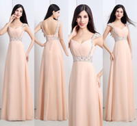 Ready To Ship Peach Bridesmaid Dresses 2015 Sweetheart Beade...