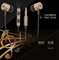 Écouteurs Xiaomi Casques universels 3,5 mm en métal Earbud Super Bass Casque Écouteurs stéréo Écouteurs intra-auriculaires avec écouteurs Mic Livraison gratuite