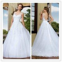 2015 Wedding Dresses Backless Wedding Dress with Sash Spring...