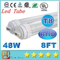 Single Pin 8 Feet R17D T8 Led Tubes Lights 48W 4600lm 196Led...