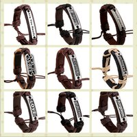 100% genuine leather bracelet men woman LOVE Dream silence b...