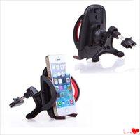 Universal Car Air Vent Mounts sostenedor del soporte del teléfono celular para Iphone 6 plus / 6 / 5s / 5c / 5 / 4s / 4 para Samsung Galaxy S3 S4 S5