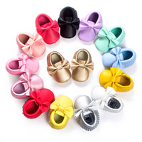 Wholesale Solid Glossy Baby Boys Shoe baby moccasins Party F...
