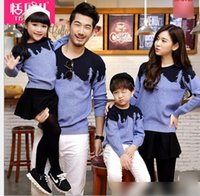 2016 Spring Autumn New Boys Girls Sweater Family Alikes Moth...