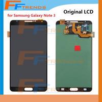Écran LCD d'original numériseur Assemblée pour Samsung Galaxy Note 3 III N900 N900R4 N900T N900 N900V N9006 N900A N9005 Gris Blanc