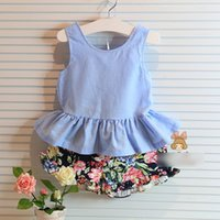 In Stock Summer Children Girls 2pcs Set Kids Clothing 2014 S...