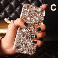 3D Luxury Bling Rhinestone Diamond TPU Soft Side Phone Case ...
