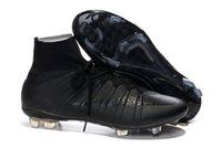 2015 Mercurial Superfly Cleats FG Soccer Shoes Mens black ni...