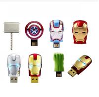 2015 New Hot The Avengers LED Flash 16GB USB Flash drive 2. 0...