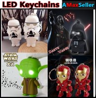 Star Wars Darth Vader Yoda Iron man Keychain Accessories LED...