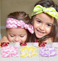 new Girls Headbands Stripe elastic cloth baby rabbit ears He...