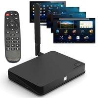 Top vendita Quad Core E8 Android 4.4 TV Box Giocatore Amlogic S802 Mali450 4K 2G/8GB Dual Wifi XBMC Bluetooth Set Top Box V777 Espresso DHL