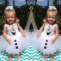 Preorder Frozen Children Girls Suspender Tutu Dresses Kids C...