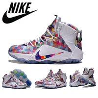 Men' s Nike Lebron 12 XII Ext Prism Finish Your Breakfas...