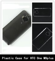 Crystal Clear Case transparente del teléfono celular de plástico duro de la PC de la contraportada para HTC uno M9 más +