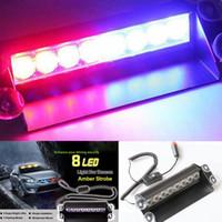 Новый 8LED красный + синий Police Car Strobe Flash Light тире аварийного Внимание лампы
