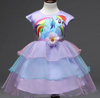 2016 Summer Baby Dresses Girls My Little Pony Party Gauze Dr...