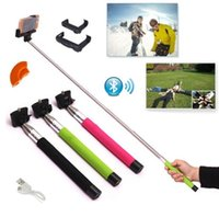 Extendable Handheld Wireless Bluetooth Selfie Monopod For iP...