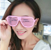 Creative Louver window glasses frame masquerade personality ...