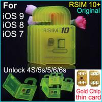 Последним разблокировка Официальный R-SIM 10+ rsim10 RSIM 10+ Тонкий SIM-карты для Ios9.X 8.x 7.X для непосредственного использования в iPhone 4S / 5S / 5/6 / 6S Sprint AU Softbank сек