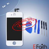 Pour iPhone 4S blanc Touch LCD écran numériseur remplacement avec outils ouverts Livraison gratuite