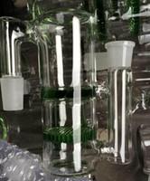 Verre Ash catcher tuyau d'eau bong miel peigne requinquer verre narguilé peigne tuyau de miel et Tornado verre perk sur les cendres de verre receveur vert ou bleu