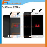 Pour iPhone 6 6 Plus 4.7 5,5 pouces écran LCD Ecran tactile Numériseur Montage complet LCD Ecrans Livraison gratuite