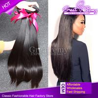 4pcs lot Indian Brazilian Unprocessed Virgin Human Hair Exte...