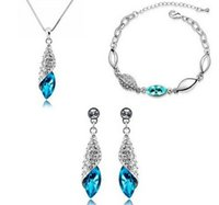 Newest S925 Sterling Silver Plated Jewelry Sets Angel Tears ...