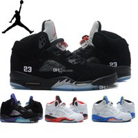 Nike men' s Jordan 5 Retro Basketball Shoes Cheap Classi...