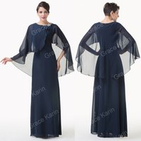 Grace Karin 2015 Newest Cape Style Chiffon Ball Gown Evening...