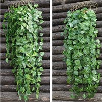 High Simulation Wall Hanging Vine Leaf Artificial Green Wist...