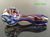 Glass Spoon Pipes For Smoking colorful Bong for sale tobacoo...