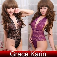 Grace Karin Hot Attractive Womens Halter Backless Teddy Unde...