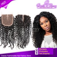 6A Peruvian Human Virgin Hair Unprocessed Curly Top Lace Clo...
