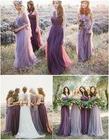 Vestidos De Novia Pastel Mismatched Convertible Purple And L...